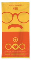 No372 My Her Minimal Movie Poster Beach Towel by Chungkong Art