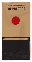 No381 My The Prestige Minimal Movie Poster Beach Towel