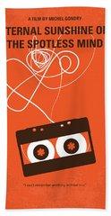 No384 My Eternal Sunshine Of The Spotless Mind Minimal Movie Pos Beach Towel