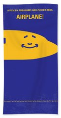 No392 My Airplane Minimal Movie Poster Beach Towel by Chungkong Art