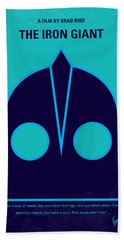 No406 My The Iron Giant Minimal Movie Poster Beach Towel