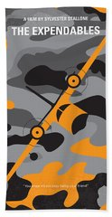 No413 My The Expendables Minimal Movie Poster Beach Towel