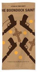 No419 My Boondock Saints Minimal Movie Poster Beach Towel by Chungkong Art