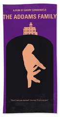 No423 My The Addams Family Minimal Movie Poster Beach Towel