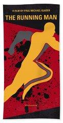 No425 My Running Man Minimal Movie Poster Beach Towel