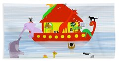 Noah's Ark Beach Sheet by Barbara Moignard