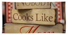 Nobody Cooks Like Mom - Square Beach Towel