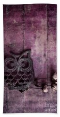 Nocturnal In Pink Beach Towel by Priska Wettstein