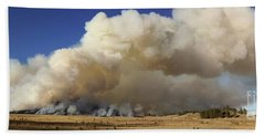 Norbeck Prescribed Fire Smoke Column Beach Sheet