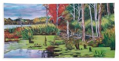 Norman Lake  Beach Towel