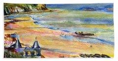 Normandy Beach Beach Towel by John D Benson