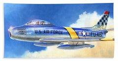 North American F-86f Sabre Beach Towel