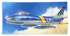 North American F-86f Sabre Beach Towel