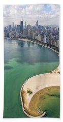 North Avenue Beach Chicago Aerial Beach Towel