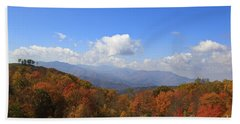 North Carolina Mountains In The Fall Beach Towel