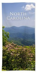 North Carolina Mountains Beach Towel