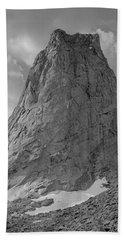 109649-bw-north Face Pingora Peak, Wind Rivers Beach Towel