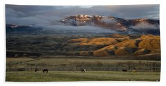 North Fork Pasture-signed Beach Towel by J L Woody Wooden