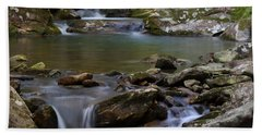 Beach Towel featuring the photograph North Prong Of Flat Fork Creek by Daniel Reed
