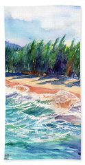 Beach Sheet featuring the painting North Shore Beach 2 by Marionette Taboniar