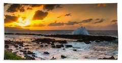 North Shore Sunset Crashing Wave Beach Sheet