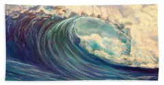 Beach Towel featuring the painting North Whore Wave by Jenny Lee