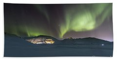 Northern Lights Iceland Beach Sheet
