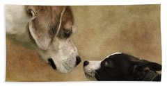 Nose To Nose Dogs Beach Towel