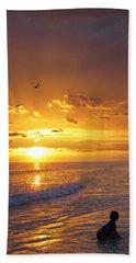 Not Yet - Sunset Art By Sharon Cummings Beach Towel