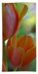 Nothing As Sweet As Your Tulips Beach Sheet by Donna Blackhall