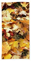Nothing But Leaves Beach Sheet by Mike Ste Marie