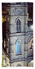 Notre Dame De Montreal At Night Beach Towel