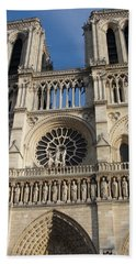 Beach Towel featuring the photograph Notre Dame by Tiffany Erdman