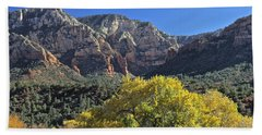 Beach Towel featuring the photograph November In Sedona by Penny Meyers