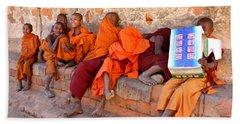 Novice Buddhist Monks Beach Sheet