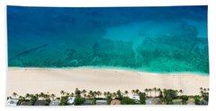 Pipeline Reef From Above Beach Towel