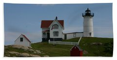 Beach Towel featuring the photograph Nubble Light House York Maine by Denyse Duhaime