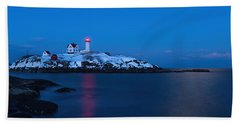 Nubble Light Reflections Beach Towel