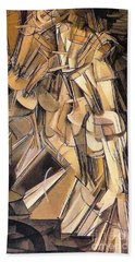 Nude Descending A Staircase Beach Sheet by Pg Reproductions