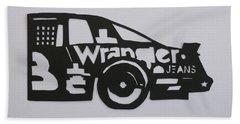 Number 3 Car Wrangler Beach Towel