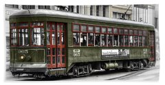 Beach Towel featuring the photograph Number 965 Trolley by Tammy Wetzel