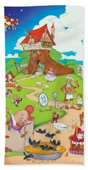 Nursery Rhymes Beach Towel