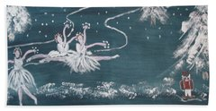 Nutcrackers Dance Of The Snowflakes Beach Towel