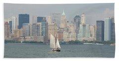Ny City Skyline Beach Towel