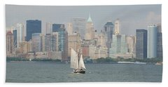 Ny City Skyline Beach Sheet