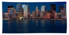 Beach Towel featuring the photograph Nyc Pano by Jerry Fornarotto
