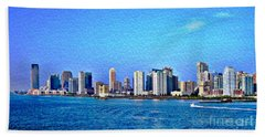 Beach Towel featuring the photograph Nyc  The Big Apple  by Judy Palkimas