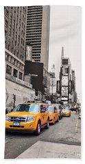 Nyc Yellow Cabs Beach Sheet
