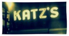 Nyc's Famous Katz's Deli Beach Sheet