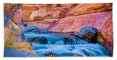 Oak Creek In The Spring Beach Towel